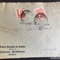 Sellos: FRONTAL DE SOBRE CENSURA MILITAR PEÑARROYA Y PUEBLONUEVO. Lote 190579306