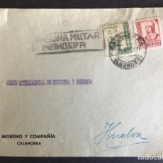 Sellos: FRONTAL DE SOBRE CENSURA MILITAR CALAHORRA. Lote 190579422