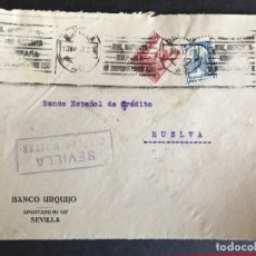 Sellos: FRONTAL DE SOBRE CENSURA MILITAR SEVILLA. Lote 190579953