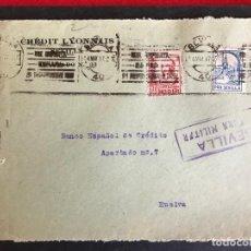 Sellos: FRONTAL DE SOBRE CENSURA MILITAR SEVILLA. Lote 190580031