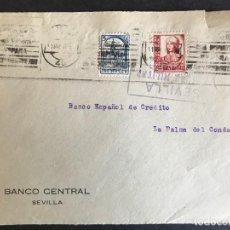 Sellos: FRONTAL DE SOBRE CENSURA MILITAR SEVILLA. Lote 190580471