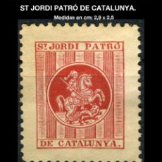 Sellos: VIÑETA - ST - SANT JORDI PATRÓ DE CATALUNYA - REF868. Lote 190587053