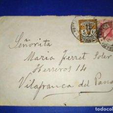 Timbres: SOBRE CARTA VILAFRANCA PENEDÉS SELLOS REPÚBLICA ESPAÑOLA. Lote 190779771