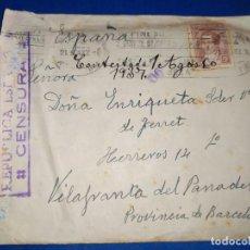 Timbres: CARTA BUENOS AIRES A VILAFRANCA DEL PENEDÉS,CENSURA REPÚBLICA ESPAÑOLA. Lote 190780053