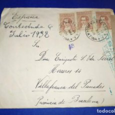 Timbres: CARTA ARGENTINA A VILAFRANCA DEL PENEDÉS,CENSURA REPÚBLICA ESPAÑOLA,. Lote 190780422