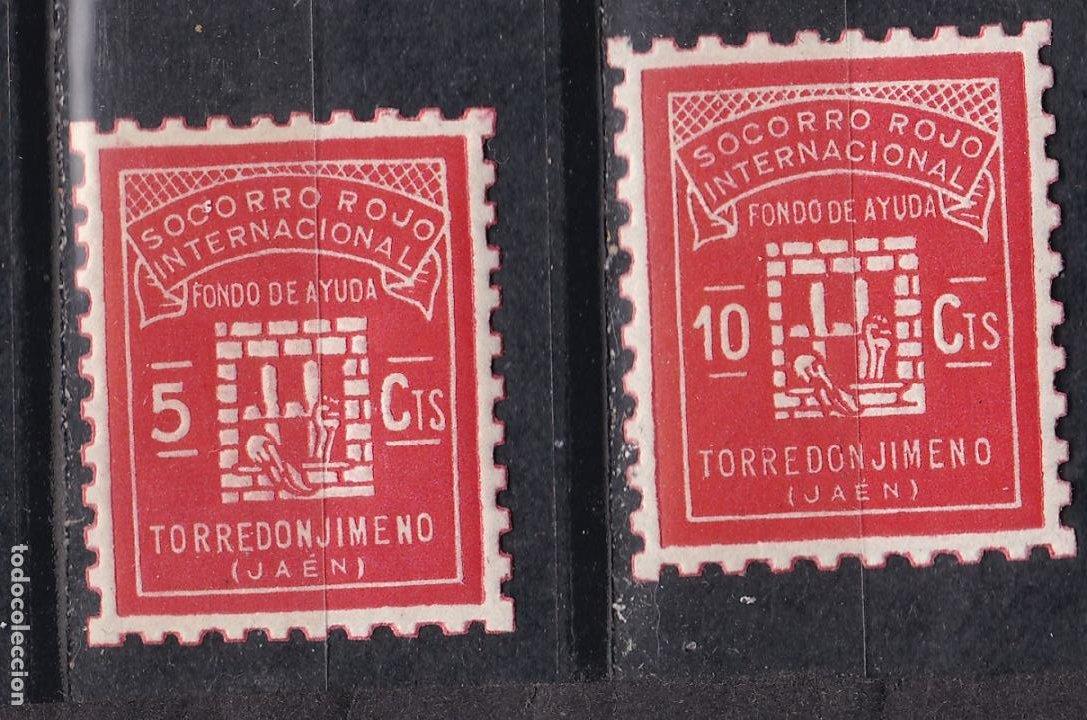 TT8- GUERRA CIVIL . LOCALES TORREDONJIMENO JAÉN ** SIN FIJASELLOS. LUJO (Sellos - España - Guerra Civil - Viñetas - Nuevos)