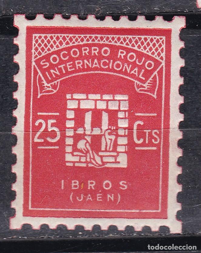 TT8- GUERRA CIVIL . LOCAL IBROS JAÉN ** SIN FIJASELLOS. LUJO (Sellos - España - Guerra Civil - Viñetas - Nuevos)
