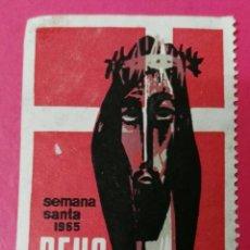 Sellos: VIÑETA REUS- SEMANA SANTA 1965. Lote 191115542