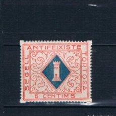 Selos: GUERRA CIVIL. SEGELL ANTIFEIXISTE TORTOSA 5 CENTIMS ** LOT006. Lote 191340125