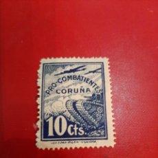 Sellos: CORUÑA PRO COMBATIENTES 20 CTMOS TANQUE. Lote 191351503