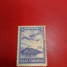 Sellos: ISLAS CANARIAS SELLO 5 CÉNTIMOS AVIÓN. Lote 191352615