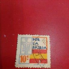 Sellos: POR LA PATRIA VIÑETAS 10 C. ESPAÑA. Lote 191353181