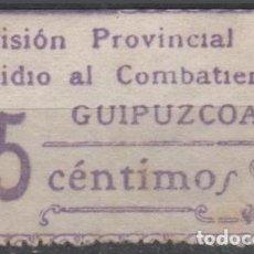 Sellos: F4-15-3 GUERRA CIVIL - GUIPUZCOA - COMISION PROVINCIAL - SUBSIDIO AL COMBATIENTE - FESOFI Nº15 - 2. Lote 191482153