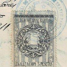 Sellos: L26-13 MORA LA NUEVA (TARRAGONA) ACTA DE NACIMIENTO CON SELLO FISCAL DE 11ª CLASE DE 1 PESETA AZUL Y. Lote 191498670