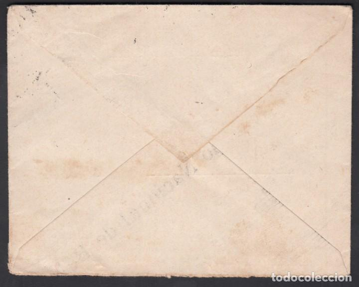 Sellos: Carta, Barcelona - Valencia, Delegación Internacional de la Cruz Roja, Marca de Barcelona, - Foto 2 - 191645877