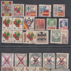 Sellos: LOTE DE VIÑETAS, AUXILIO SOCIAL, AUXILIO DE INVIERNO, PRO-PATRIA. . Lote 191741782