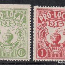 Sellos: VIÑETAS BENÉFICAS, PRO-LOCAL, 50 CTS, 1 PTS,. Lote 191743296