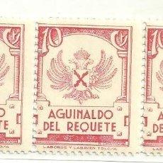 Sellos: C1.- VIÑETA - CARLISMO - REQUETE - AGUINALDO DEL REQUETE - IMPRESO EN LABORDE Y LABAYEN DE TOLOSA. Lote 191871022