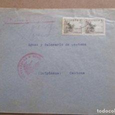 Sellos: CIRCULADA DE PONFERRADA LEON A BALNEARIO DE CESTONA GUIPUZCOA CON CENSURA MILITAR. Lote 191897006