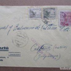 Sellos: CIRCULADA 1939 PERFUMERIA DROGUERIA DE LEON A BALNEARIO DE CESTONA GUIPUZCOA CON CENSURA MILITAR. Lote 191897190