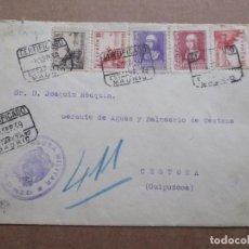 Sellos: CIRCULADA 1939 DE MADRID A BALNEARIO DE CESTONA GUIPUZCOA CON CENSURA MILITAR. Lote 191897818