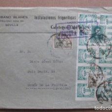 Sellos: CIRCULADA 1939 D CAFETERAS EXPRESS SEVILLA A MORON DE LA FRONTERA CON CENSURA MILITAR Y SELLO LOCAL. Lote 191898565