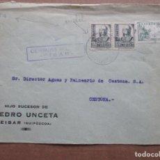 Sellos: CIRCULADA DE EIBAR A CESTONA GUIPUZCOA CON CENSURA MILITAR . Lote 191902681