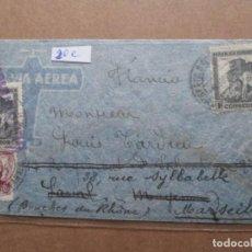 Sellos: CIRCULADA 1938 A MARSEILLE MARSELLA FRANCIA CON CENSURA REPUBLICANA. Lote 191912461