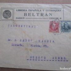 Sellos: CIRCULADA 1937 DE DE MADRID A BUENOS AIRES ARGENTINA CON MATASELLO LLEGADA. Lote 191913786