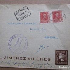 Sellos: CIRCULADA 1938 DE BILBAO A GRANADA CON CENSURA MILITAR. Lote 191915250