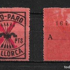 Sellos: ESPAÑA - GUERRA CIVIL PRO PARO MALLORCA 1.25 PTS * - 15/25. Lote 191931117