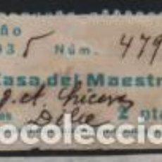 Sellos: CASA DEL MAESTRO, 2 PTAS, CUOTA MENSUAL-- VER FOTO. Lote 191956268