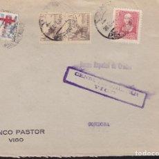 Sellos: F7-36- GUERRA CIVIL CARTA TUBERCULOSOS VIGO (PONTEVEDRA) 1938. CENSURA .. Lote 192046570