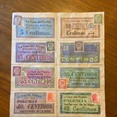 Sellos: SANTERVAS DE LA VEGA PALENCIA GUERRA CIVIL CUPONES VALES CON SELLOS. Lote 192093928
