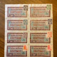 Sellos: OSORNO PALENCIA GUERRA CIVIL VALES CUPONES CON SELLOS. Lote 192097178