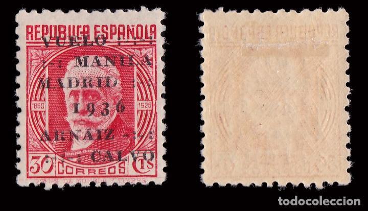 Sellos: II República.1936. Manila- Madrid.Sobrecarga. 30c.HN.Edifil. 741 - Foto 2 - 192265571