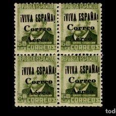 Sellos: ESPAÑA-1937-GUERRA CIVIL - BURGOS - EDIFIL 71 - MNH** - NUEVOS - BLOQUE 4 - VALOR CATALOGO 75€. Lote 192349971