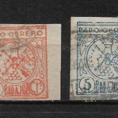 Sellos: ESPAÑA GUERRA CIVIL - BADAJOZ PARO OBRERO - 2/4. Lote 192408780