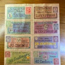 Sellos: ORGAZ TOLEDO GUERRA CIVIL CUPONES VALES CON SELLOS. Lote 192511773