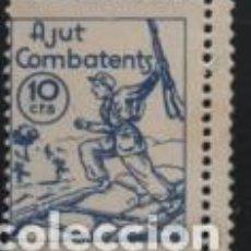 Selos: VIÑETA, 10 CTS,. --DOBLE DENTADO-- AJUT AL COMBATENS. VER FOTO. Lote 192617190