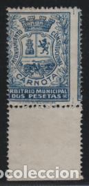 CARNOTA, 2 PTAS. --ARBITRIO MUNICIPAL-- NUEVO-VER FOTO (Sellos - España - Guerra Civil - De 1.936 a 1.939 - Usados)