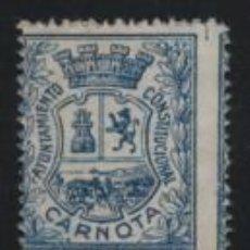 Sellos: CARNOTA, 2 PTAS. --ARBITRIO MUNICIPAL-- NUEVO-VER FOTO. Lote 192617352