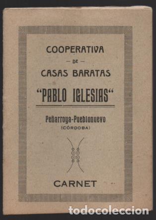 PEÑARROYA--PUEB...-CORDOBA- CARNET. -PABLO IGLESIAS- 2 CUTAS DE INGRESO 1 PTA. VER FOTOS (Sellos - España - Guerra Civil - De 1.936 a 1.939 - Usados)