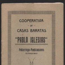 Sellos: PEÑARROYA--PUEB...-CORDOBA- CARNET. -PABLO IGLESIAS- 2 CUTAS DE INGRESO 1 PTA. VER FOTOS. Lote 192618778