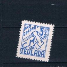 Selos: GUERRA CIVIL SELLO LOCAL TEULADA PRO GUERRA 5 CTS ** LOT006. Lote 192641106