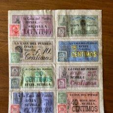 Sellos: ECIJA SEVILLA GUERRA CIVIL CUPONES VALES CON SELLO. Lote 192704776