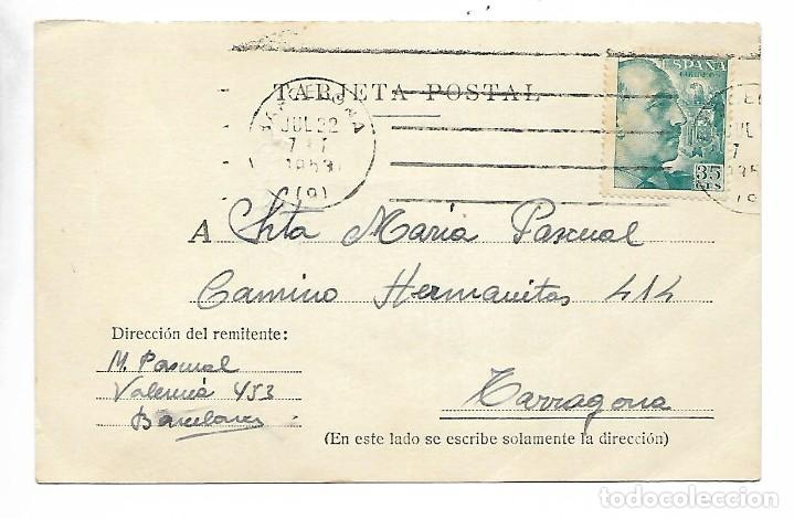 TARJETA POSTAL REINTEGRADA - 24-7-53 (Sellos - España - Guerra Civil - De 1.936 a 1.939 - Cartas)