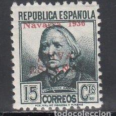 Sellos: EMISIONES LOCALES, PANPLONA 1936 EDIFIL Nº 4HCC, CAMBIO DE COLOR EN LA SOBRECARGA, ROJA, . Lote 193269575