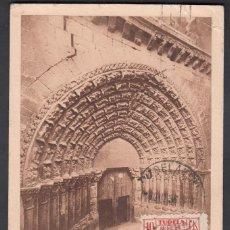 Sellos: TARJETA PAMPLONA A HUELVA,SELLO PRO-TUBERCULOSOS Y SELLO BENÉFICO DE TUDELA, RARA. . Lote 193285713
