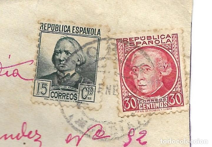 Sellos: LOTE 3 SOBRES CIRCULADOS DE LORCA 222 COMPAÑÍA DE TRANSMISIONES A SUECA (VALENCIA) AÑO 1938 - Foto 3 - 193344701